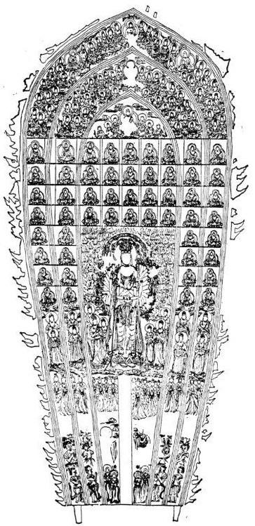 二月堂「大観音」光背の復元図(平田陽子氏復元作成)