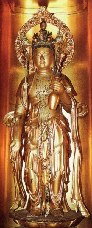 金剛福寺・十一面観音像(大御輪寺旧仏「前立十一面観音」)