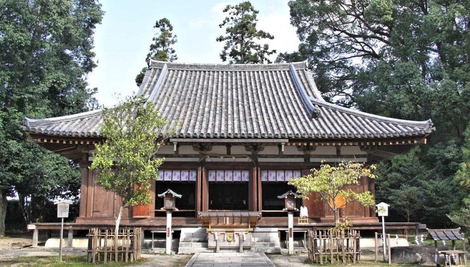元大御輪寺本堂の建物(現大直禰子神社社殿)