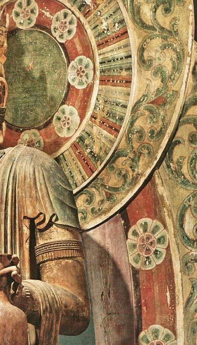室生寺・十一面観音像の板光背彩色