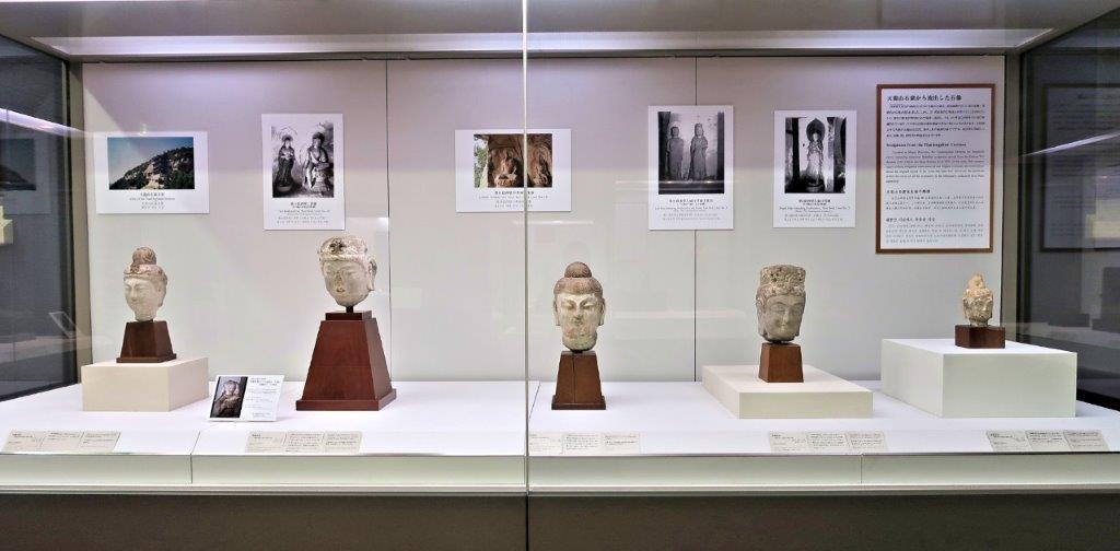 223天龍山石窟①:東博「珠玉の中国彫刻展」に展示される5体の天龍山石窟・石仏首