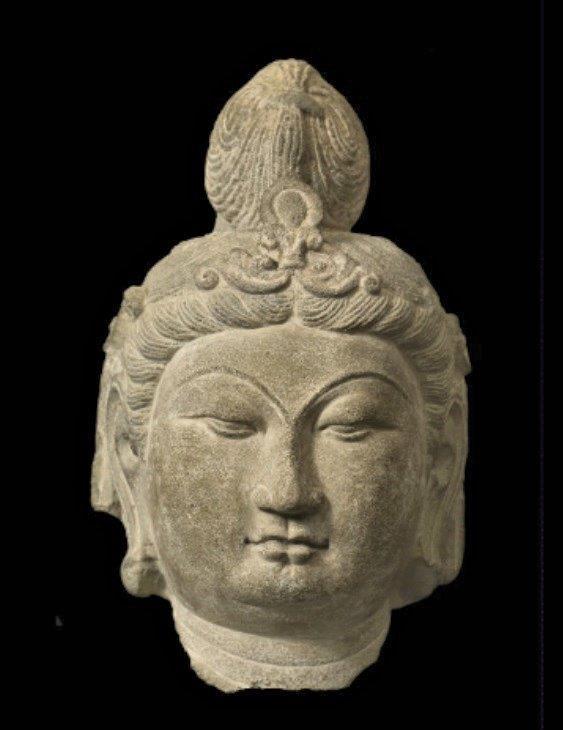 223天龍山石窟①:天龍山石窟の美しい唐代彫刻(第14窟)根津美術館蔵