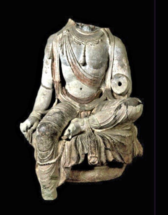 223天龍山石窟①:現在東京国立博物館蔵となっている第14窟・踏下菩薩像