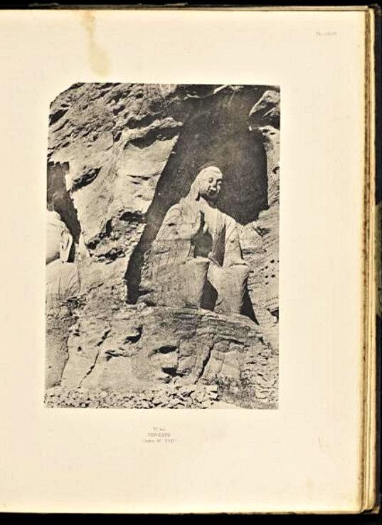 224天龍山石窟②:「華北考古図譜」収録の雲岡石窟写真
