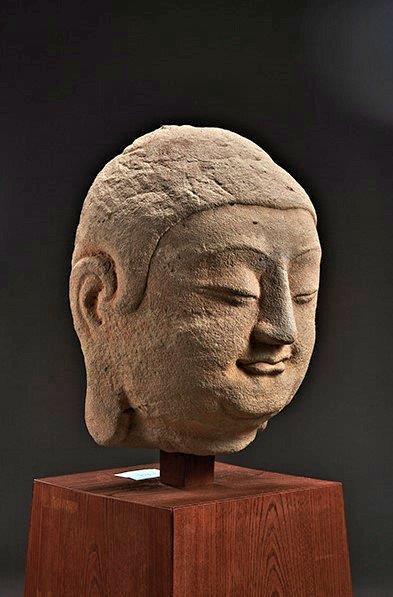 228天龍山石窟⑥:中国に帰還した天龍山石窟第8窟北壁主尊仏首