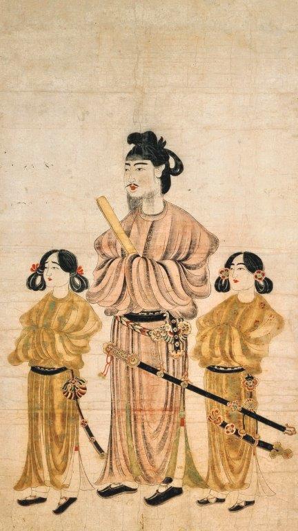 229法隆寺展薬師:唐本御影(聖徳太子及び二王子像)
