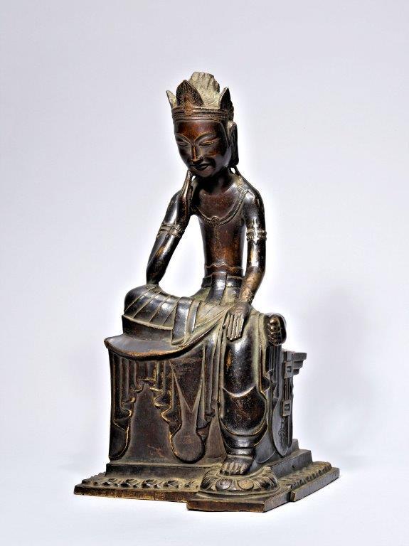 229法隆寺展薬師:東博法隆寺宝物館・丙寅銘菩薩半跏像