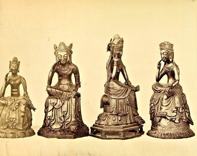 229法隆寺展薬師:奈良博覧会出展時の法隆寺四十八体仏古写真