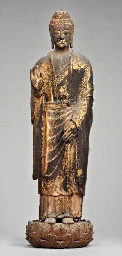 230法隆寺展法起寺:法起寺・木造如来立像(飛鳥時代)