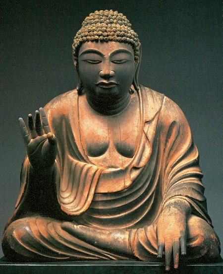 230法隆寺展法起寺:東大寺・弥勒像(国宝・平安前期)