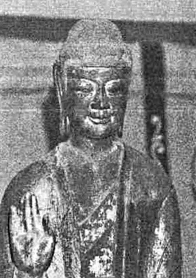 230法隆寺展法起寺:法起寺・如来像~顔部新補後の写真