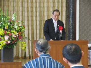 神野愛知県議会議長の祝辞。