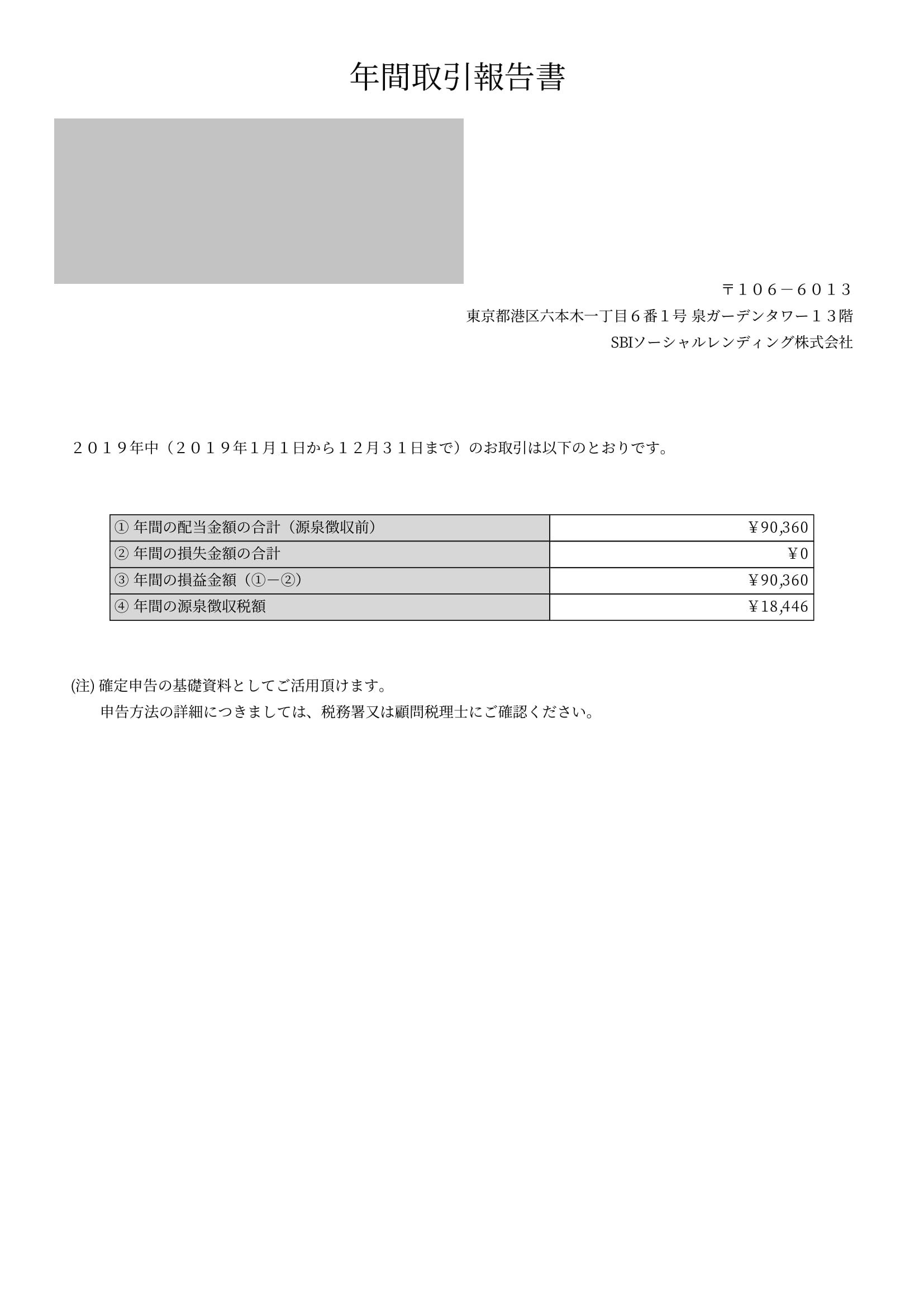 SBI年間取引報告書 (4)-1