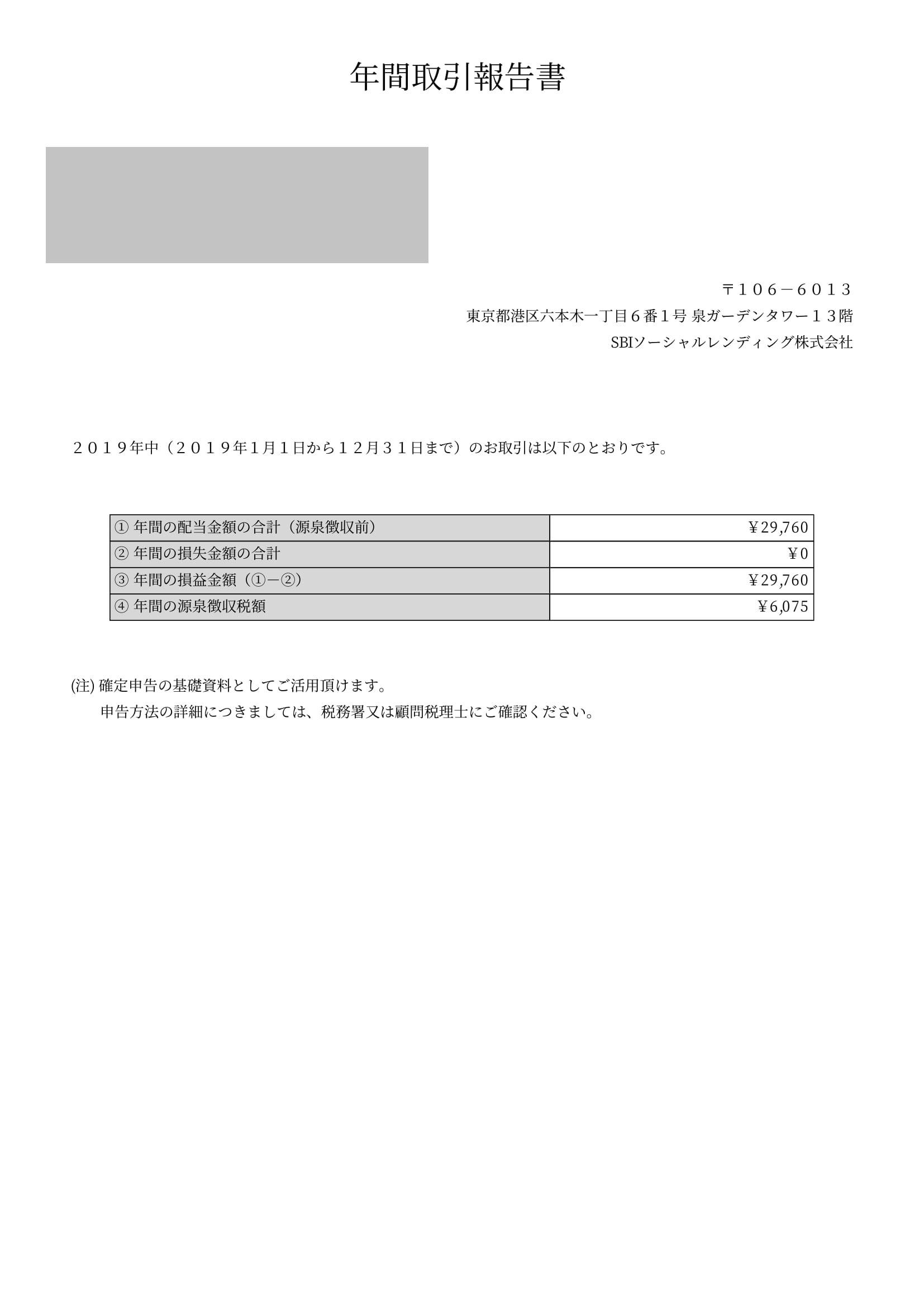 SBI年間取引報告書 (3)-1