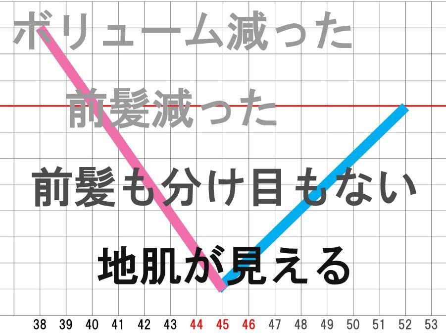 40代ハゲの育毛、ハゲた年数と育毛の年数