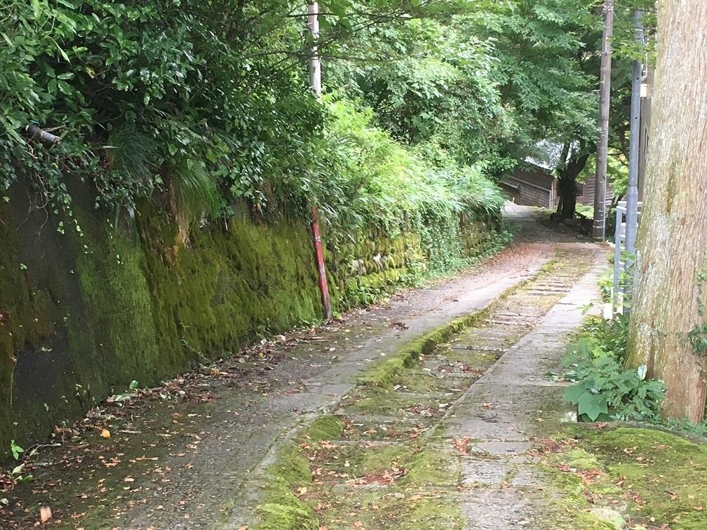 庄川湯谷温泉-入口の下り坂