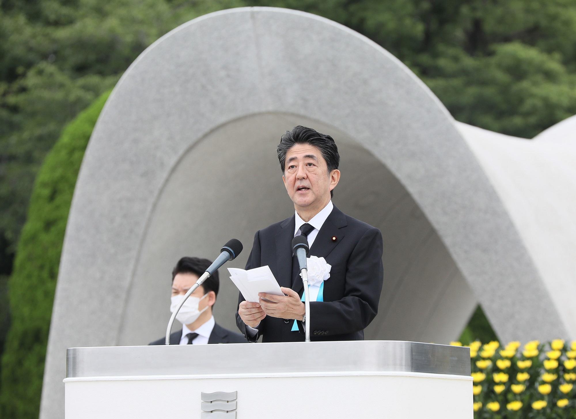 追悼式典での首相挨拶