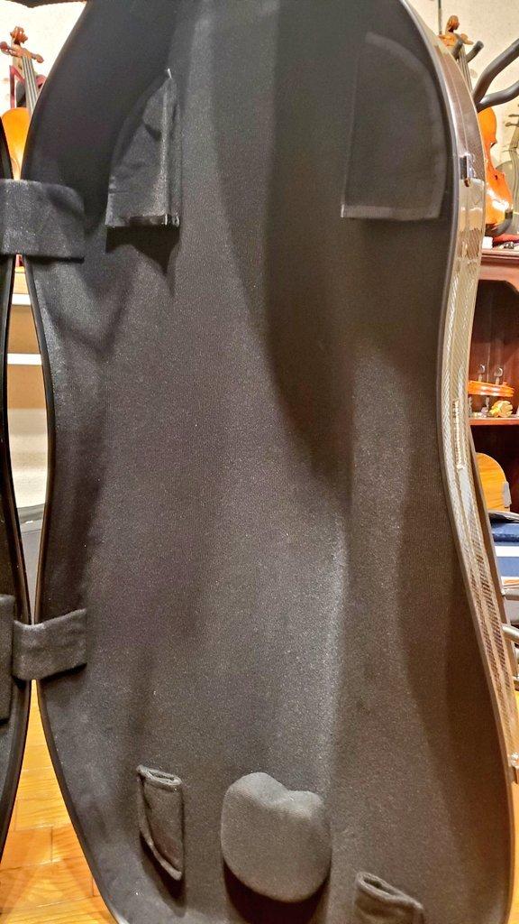 チェロケース イーストマン カーボン 内装弓ホルダー