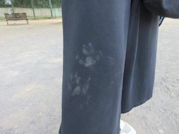 200826up02リオンくんママのお洋服にゆず足スタンプw