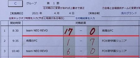 4.4(日)U-12前期リーグ開幕 in 浅川G☀写真④