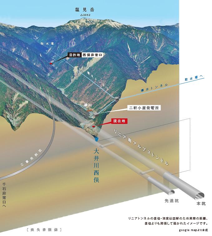 リニア南アルプストンネル静岡工区地図2001linearshizuokamap.jpg