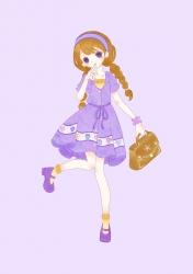 【2】紫の女の子