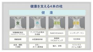 健康を支える4本の柱パンフの図