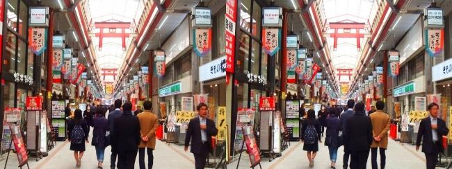 天神橋筋商店街(平行法)