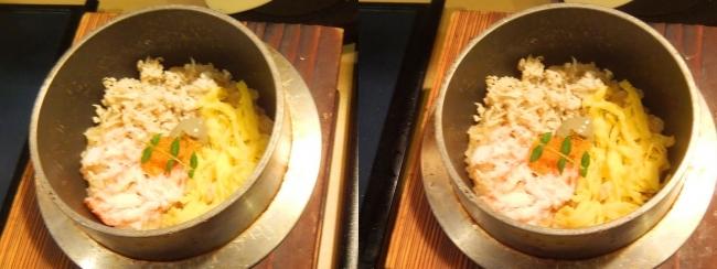蟹ラーメン専門店 香住 北よし 蟹の羽釜ごはん(交差法)