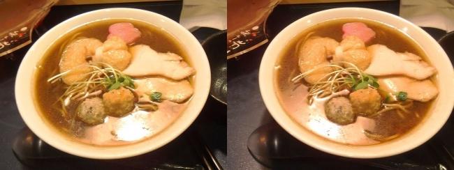 蟹ラーメン専門店 香住 北よし 香住の蟹醤油ラーメン②(交差法)