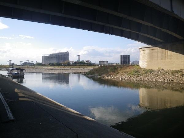 橋の下の釣り場