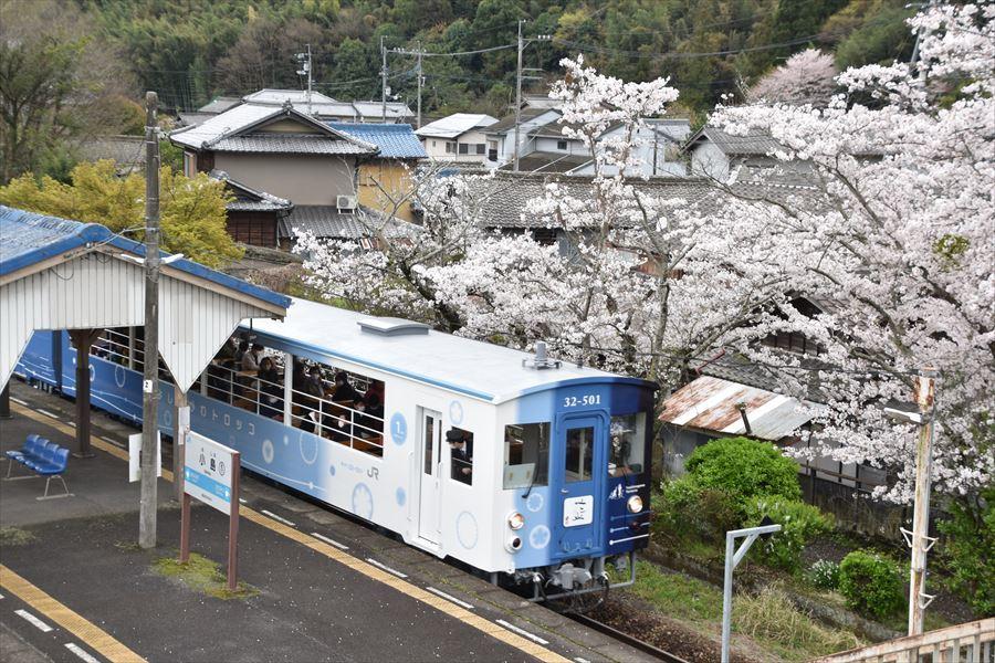 小島駅とトロッコ2