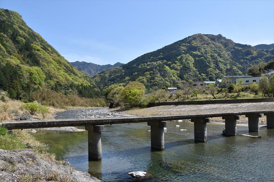 新緑と潜水橋1