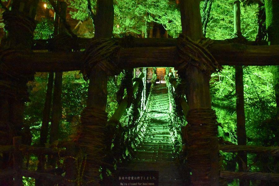夜のかずら橋4