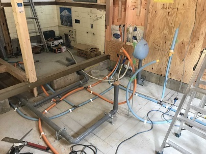1階水道配管