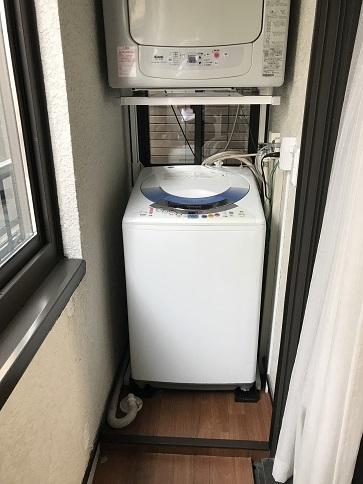 洗濯機置き場完成