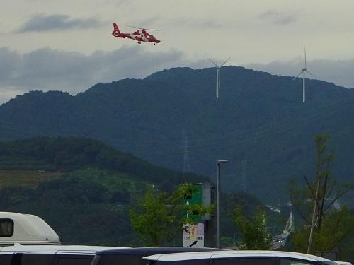 新東名浜松SA(上り) 浜松市消防ヘリ はまかぜ