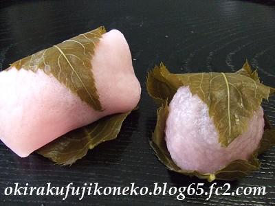 十勝甘納豆桜餅1