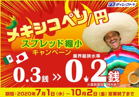 メキシコペソ/円 スプレッド縮小キャンペーン
