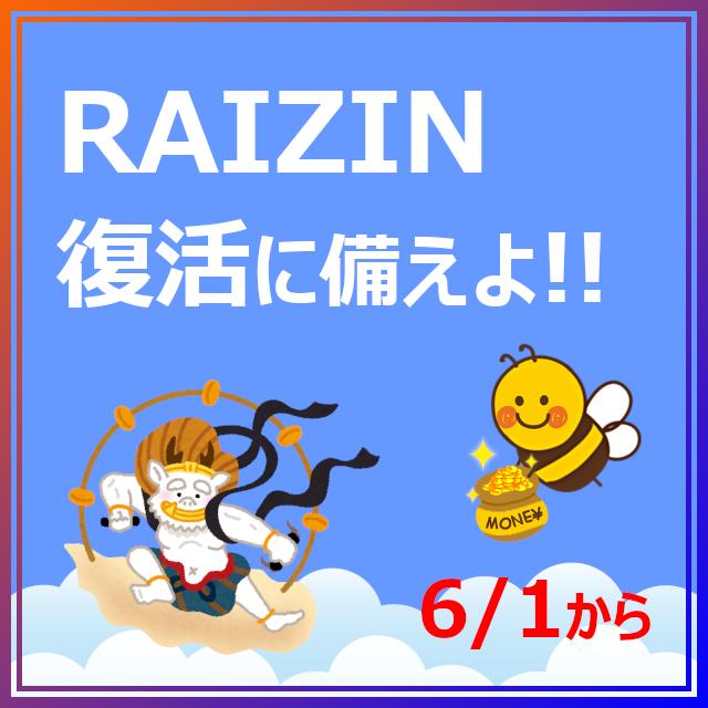 RAIZIN復活に備えよ
