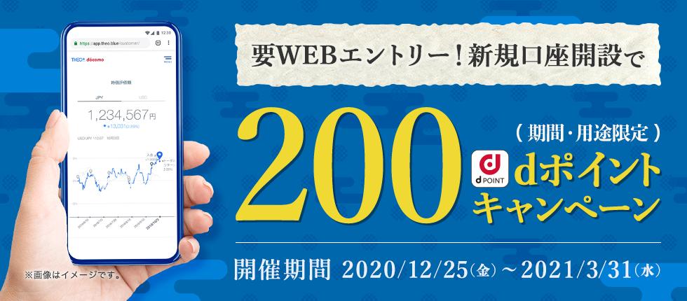 新規口座開設で200dポイントキャンペーン
