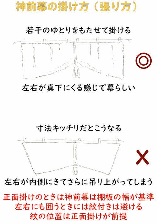 神前幕 京友禅特選シリーズ 稲荷紋、巴紋、無地