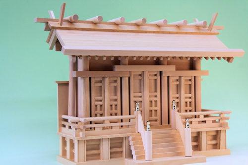 尾州桧製 通し屋根の神棚