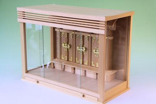 ガラスケースタイプの神棚 ガラス箱宮神殿