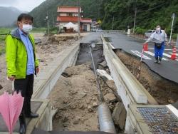 道路被害を調査