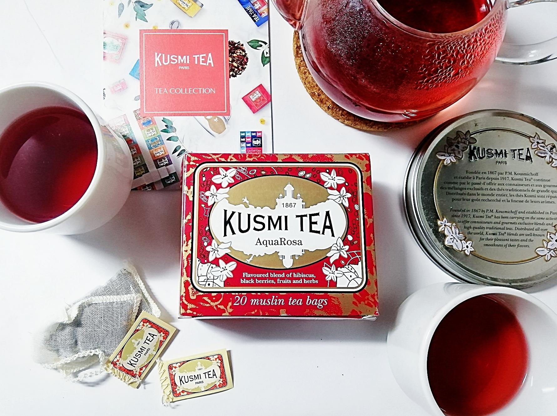 カフェインフリーのウェルネスティー KUSMI TEA(クスミティー)【アクアローザ】で夏の疲れをデトックス