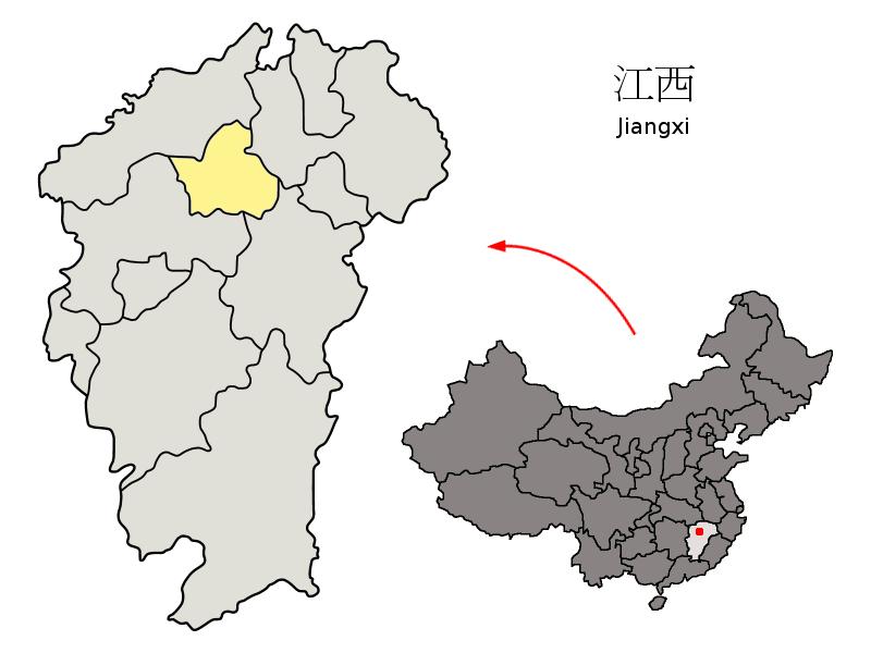 江西省中の南昌市の位置