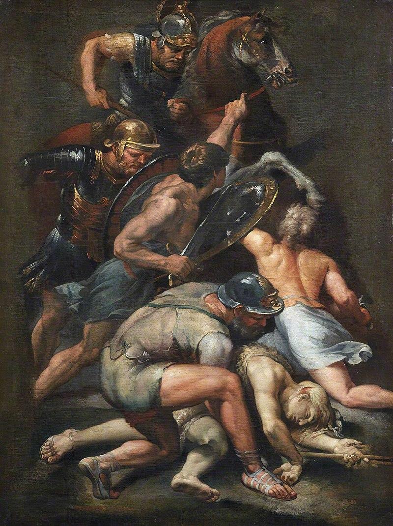 『コンスタンティヌスとマクセンティウスの戦い』 ラザロ・バルディ