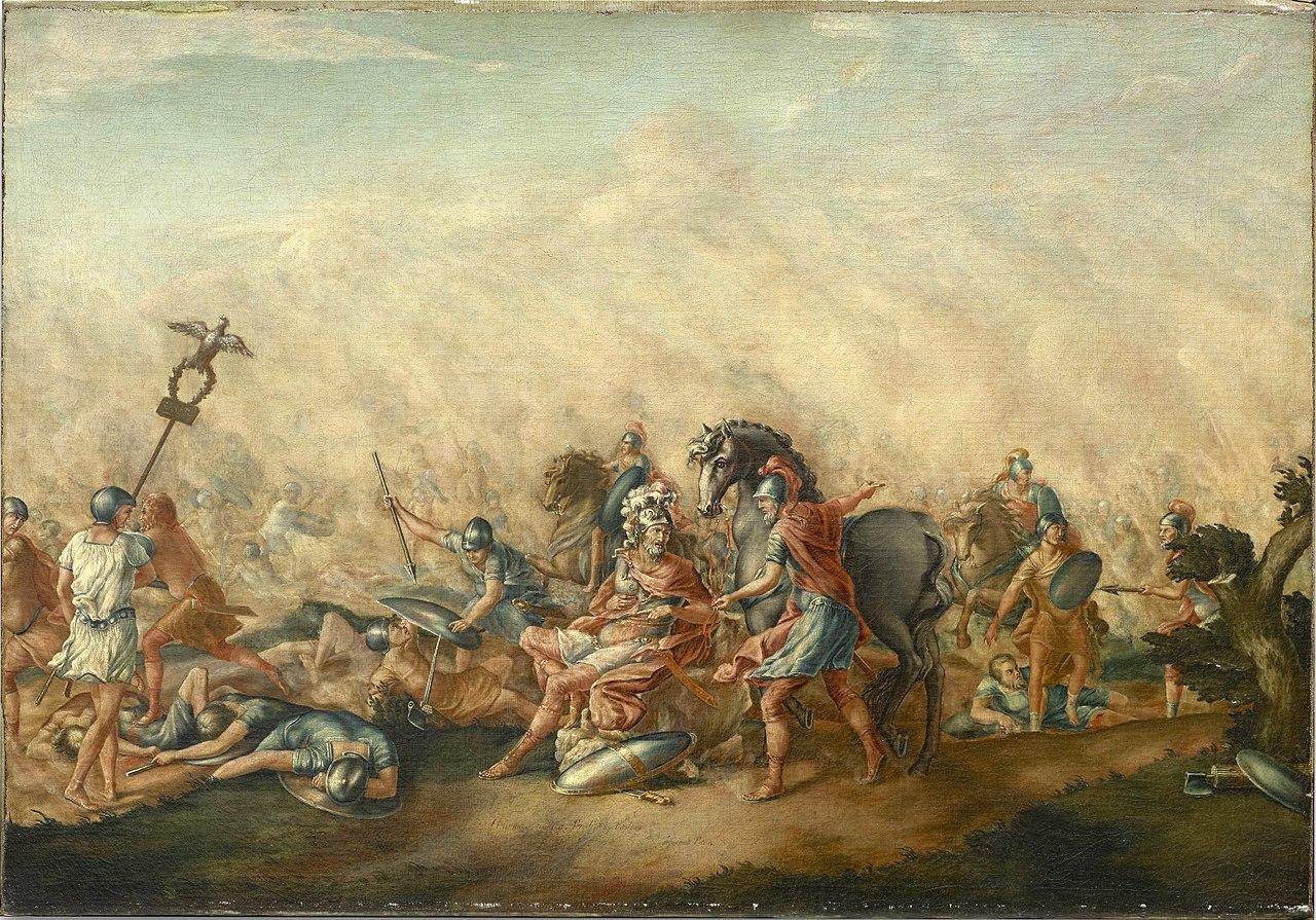 『執政官パウルスの最期』(John Trumbull, 1773)