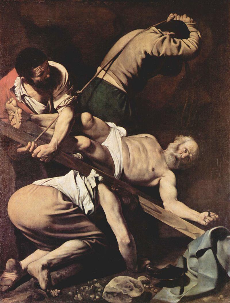 『聖ペトロの逆さ磔』 ミケランジェロ・メリージ・ダ・カラヴァッジョ